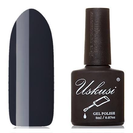 Uskusi, Гель-лак №178Uskusi<br>Гель-лак (8 мл) темный серо-синий, без перламутра и блесток, плотный.<br><br>Цвет: Черный<br>Объем мл: 8.00