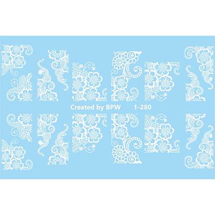 BPW.Style, Слайдер-дизайн «Белые цветы» №1-280
