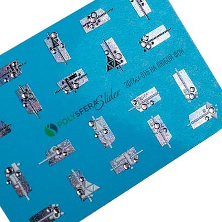 Купить Полисфера, 3D-слайдер «Объем, фольга и стразы» №015