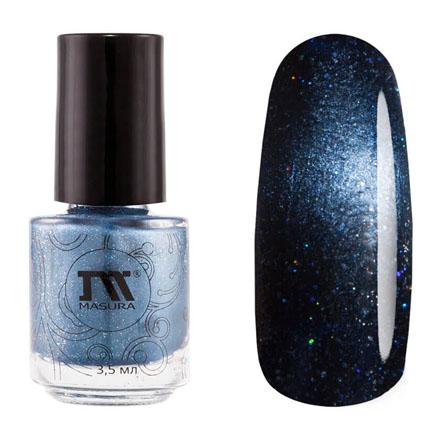 Купить Masura, Лак для ногтей №904-230M, Две луны Сатурна, 3, 5 мл, Синий