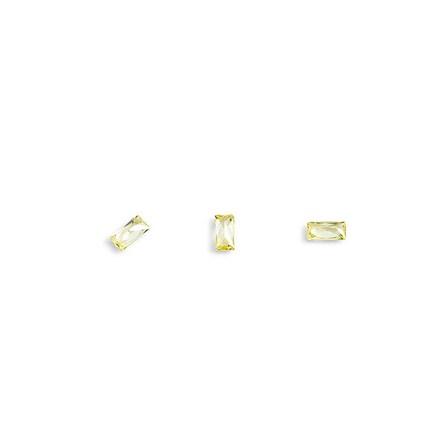 TNL, Кристаллы «Багет» №5, желтые, 10 шт. tnl кристаллы овал 1 темно желтые 10 шт