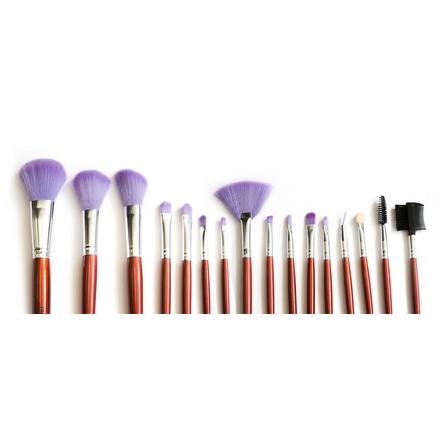 TNL, Набор кистей для макияжа в кожаной упаковке tnl набор кистей 3 шт