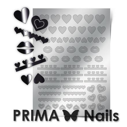 Prima Nails, Металлизированные наклейки LV-01, серебро