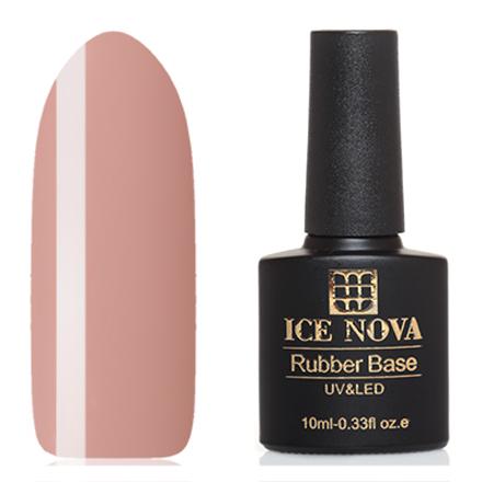Ice Nova, Камуфляжная база №17Базы для шеллака<br>Камуфляжная каучуковая база (10 мл). Цвет: персиково-бежевый, без перламутра и блесток, полупрозрачный.