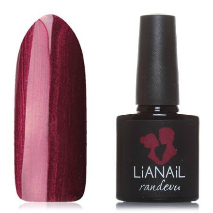 Lianail, Гель-лак Randevu, Рубиновое виноLianail<br>Гель-лак (10 мл) рубиновый, с перламутром, плотный.<br><br>Цвет: Красный<br>Объем мл: 10.00