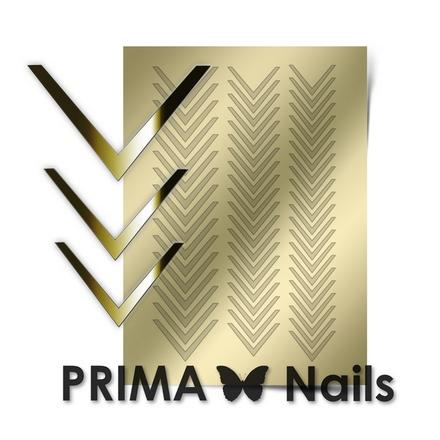 Prima Nails, Металлизированные наклейки CL-003, золотоНаклейки для дизайна<br>Наклейки для необычного дизайнерского маникюра.