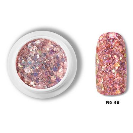 Купить YMMY Professional, Украшения для ногтей «Диско соты» №48, Розовый