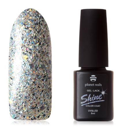 Купить Planet Nails, Гель-лак Shine №871, Фиолетовый