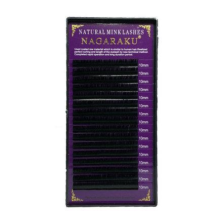 NAGARAKU, Ресницы на ленте Natural Mink, 10/0,12 мм, C-изгибНаращивание ресниц<br>Ресницы для поресничного метода наращивания. В упаковке 16 линий.