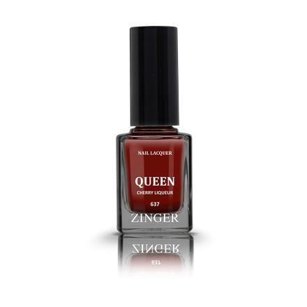 Zinger, Лак для ногтей Queen, цвет Cherry liqueur