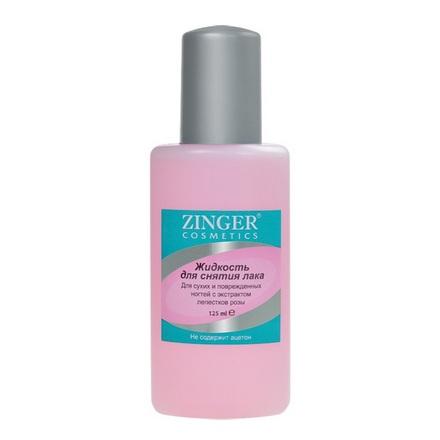 Zinger, Жидкость для снятия лака, c экстрактом лепестков розы, 75 мл
