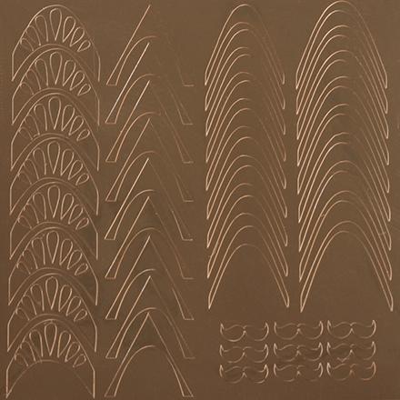 KrasotkaPro, Металлизированные наклейки M5g, золото
