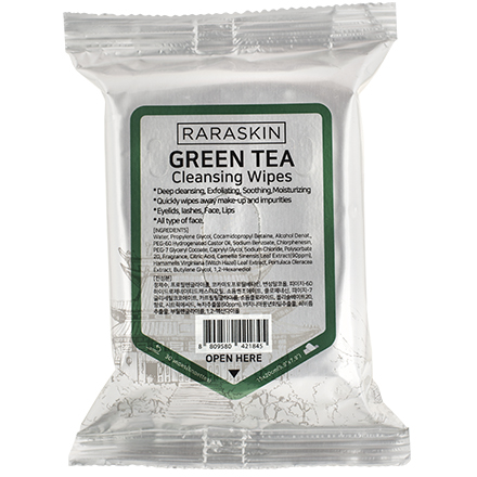 Купить Raraskin, Очищающие салфетки для лица Green Tea, 30 шт.