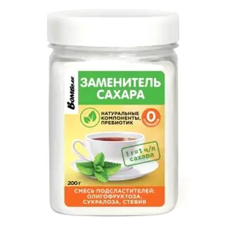 Фото - Bombbar, Заменитель сахара «Олигофруктоза, сукралоза, стевия», 200 г заменитель сахара vitalia стевия 250 г