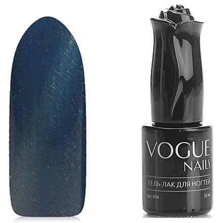 Vogue Nails, Гель-лак Кошачий глаз ИридаVogue Nails<br>Магнитный гель-лак (10 мл) синий океан, с золотистым перламутром, плотный.