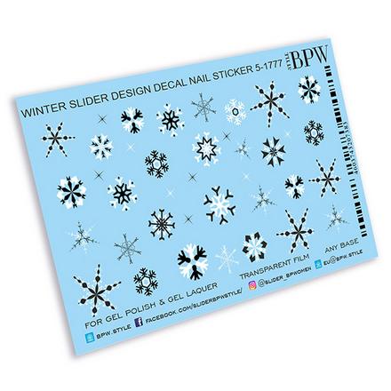 Купить BPW.style, Слайдер-дизайн «Снежинки» №5-1777