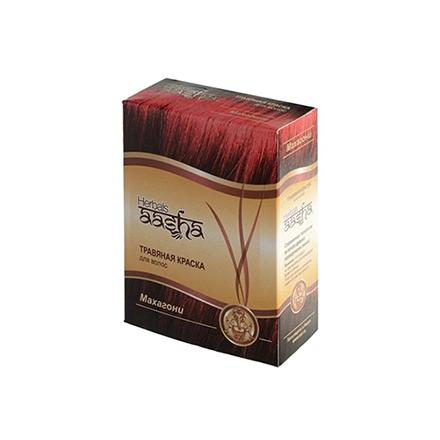 Купить Aasha Herbals, Травяная краска для волос, махагони, 6х10 г