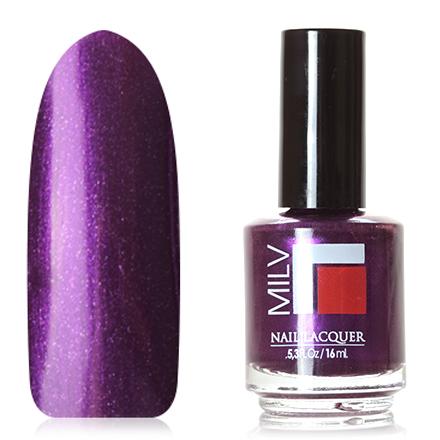 Milv, Лак для ногтей №86Milv<br>Лак для ногтей (16 мл) насыщенный фиолетовый, с микроблестками, плотный.<br><br>Цвет: Фиолетовый<br>Объем мл: 16.00