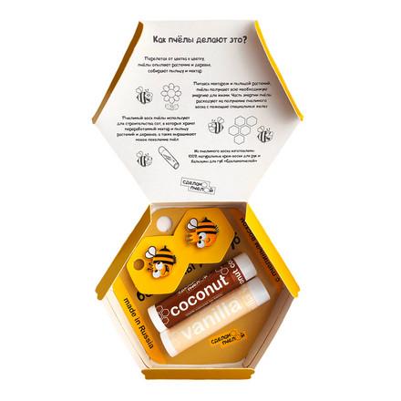Купить Сделанопчелой, Набор «Пчелы любят тебя», Coconut & Vanilla