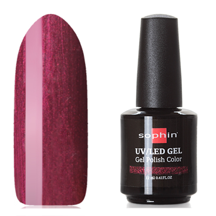 Sophin, Гель-лак №0742, MulberrySophin<br>Гель-лак (12 мл) винно-пурпурный, с перламутром, плотный.<br><br>Цвет: Фиолетовый<br>Объем мл: 12.00