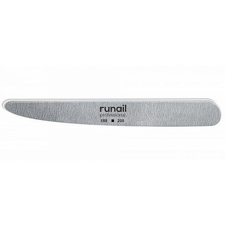 Купить RuNail, Пилка для искусственных ногтей, серая, нож, 180/200