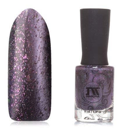 Masura, Лак для ногтей №904-232, Розовые бабочкиМагнитные лаки Masura<br>Магнитный лак (11 мл) темно-лиловый, с сиреневым перламутром и розовой/изумрудной фольгой хамелеон, плотный.<br><br>Цвет: Фиолетовый<br>Объем мл: 11.00