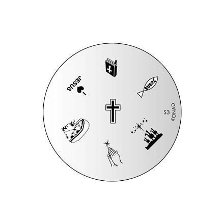 Konad, диск для стемпинга S3 konad m44