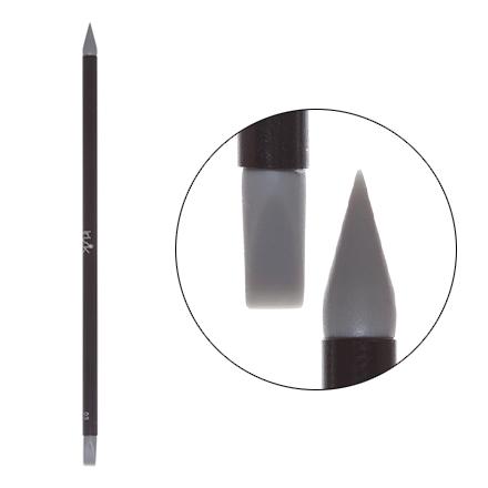 Irisk, Кисть силиконовая с тонкой ручкой Nail Sculptor, конус/прямая, серая