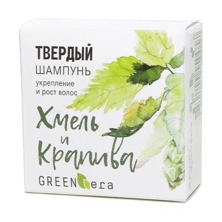 Green Era, Твердый шампунь «Хмель и крапива», 55 г фото