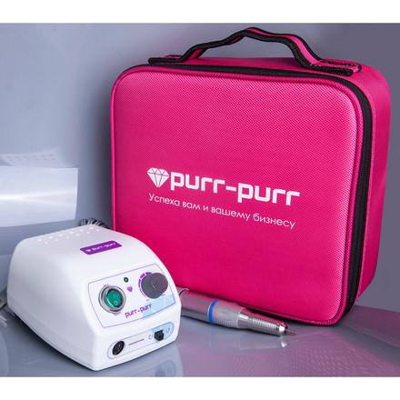 Купить Аппарат для маникюра Purr Purr, Аппарат Estron G, с сумкой цвета фуксии