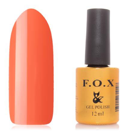 FOX, Гель-лак Gradient №006F.O.X<br>Гель-лак (12 мл) морковный, без перламутра и блесток, полупрозрачный.