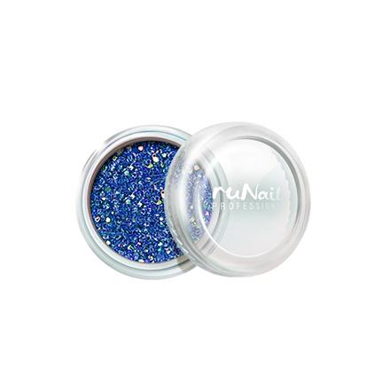 ruNail, Дизайн для ногтей: блестки 0301 (Сине-голубые) runail дизайн для ногтей ракушки 0285