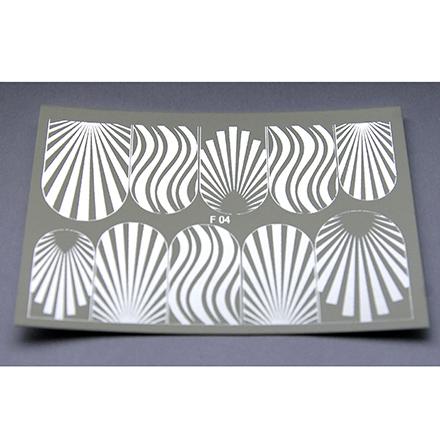 Freedecor, Слайдер-дизайн F4-06, сереброСлайдер-дизайн<br>Фольгированный слайдер для создания дизайна на ногтях.