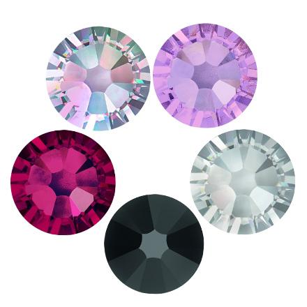 Swarovski, Набор «Ослепительные кристаллы»Стразы для ногтей Swarovski<br>В набор входит 5 видов кристаллов для дизайна ногтей диаметром 2,8 мм (в наборе 150 шт.) (Этот товар оформляется только на сайте!)<br>