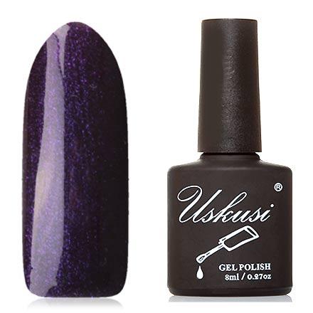 Uskusi, Гель-лак №359Uskusi<br>Гель-лак (8 мл) темно-баклажановый, с фиолетовыми и розовыми микроблестками, плотный.<br><br>Цвет: Фиолетовый<br>Объем мл: 8.00