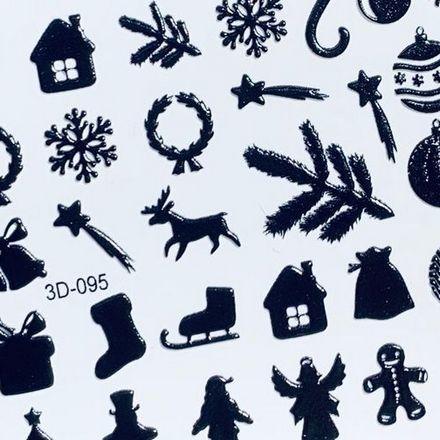 Купить AnnaTkacheva, 3D-слайдер№95, черный «Зима. Новый год», Anna Tkacheva