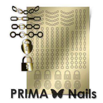 Prima Nails, Металлизированные наклейки UZ-01, золото