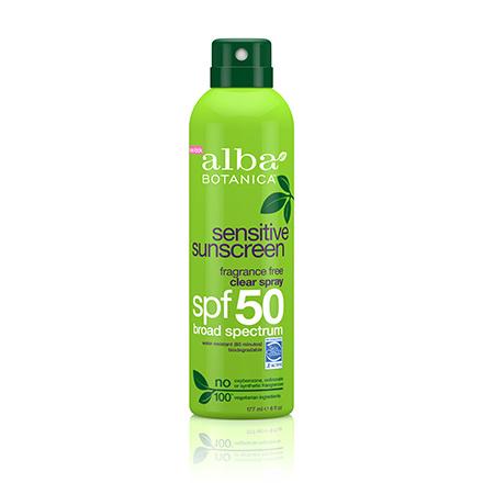 Alba Botanica, Спрей Sensitive Sunscreen SPF 50, 171 мл