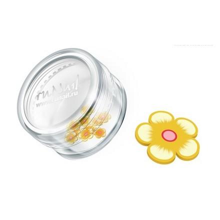 ruNail, дизайн для ногтей: резиновые аппликации 0412 (цветы, желто-оранжевый)