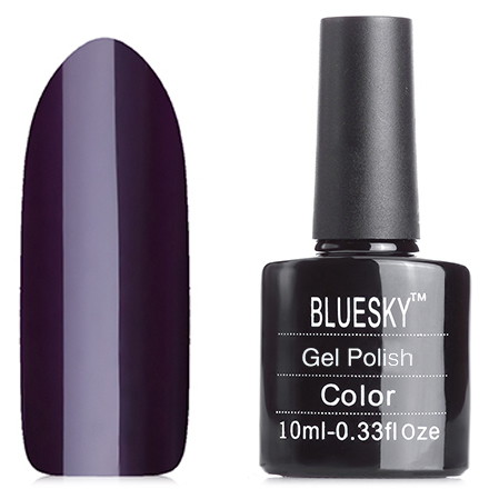 Bluesky, Гель-лак №80559 Dark DahliaBluesky Шеллак<br>Гель-лак (10 мл) черно-баклажанового цвета, без блесток и перламутра, плотный.<br><br>Цвет: Фиолетовый<br>Объем мл: 10.00