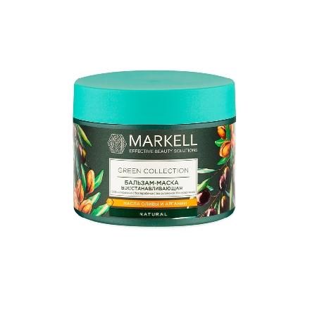Markell, Бальзам-маска Green Collection, восстанавливающая, 300 млМаски для волос <br>Маска для глубокого восстановления, предотвращения ломкости волос.