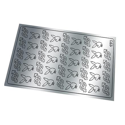 Купить Freedecor, Металлизированные наклейки №178, серебро