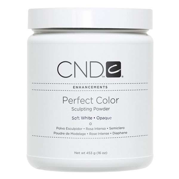 CND, Акриловая пудра Perfect Soft White, 453 грCND<br>Акриловая пудра (неяркая белая)<br>