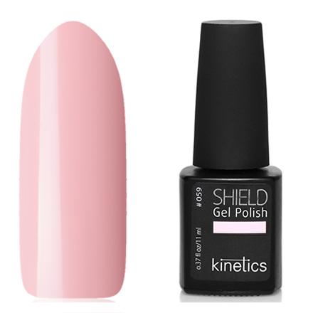 Kinetics, Гель-лак Shield №059, Rose petalKinetics<br>Гель-лак (11 мл) бело-розовый, без перламутра и блесток, плотный.