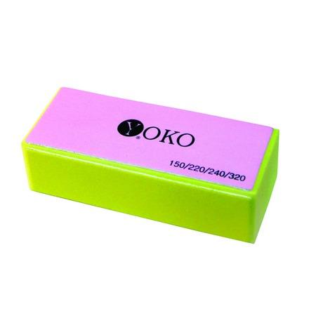 Yoko, Блок Y SBF 020, желтый, 150/220/240/320Пилки для искусственных ногтей<br>Блок для шлифовки натуральных и искусственных ногтей.<br>