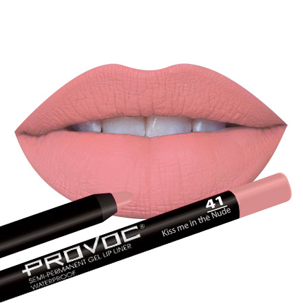 Provoc, Gel Lip Liner 41 Kiss me in the Nude, цвет лососевый