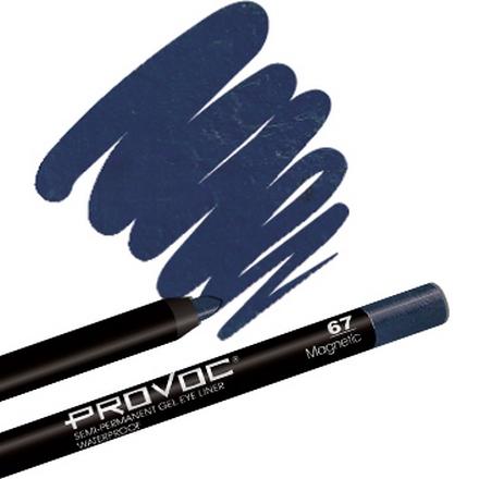 Provoc, Gel Eye Liner 67 Magnetic, Цвет темно-сапфировый, шиммер
