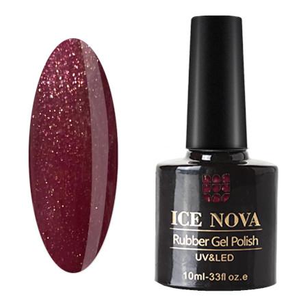 Купить Ice Nova, Гель-лак каучуковый №045, Бордовый