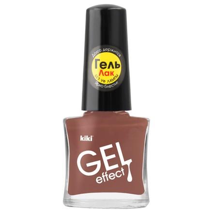 Купить Kiki, Лак для ногтей Gel Effect №030, Коричневый