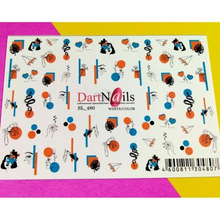 Купить DartNails, Слайдер-дизайн Art-Fashion №480